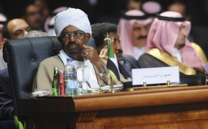 Sudan's President Omar Hassan al-Bashir attends the opening meeting of the Arab Summit in Sharm el-Sheikh, in the South Sinai governorate, March 28, 2015. © 2015 Reuters