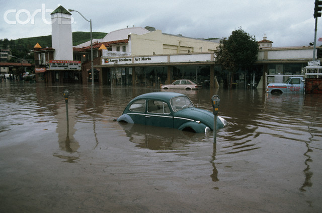 Volkswagen Bug in El Nino Flood