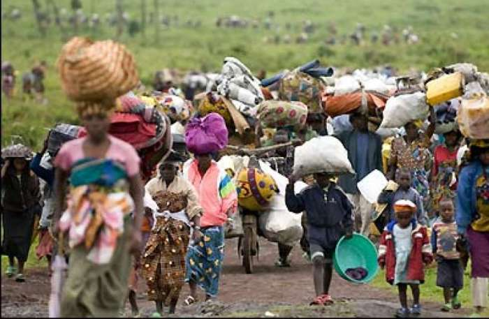 People fleeing from barbaric Boko Haram onslaught