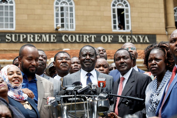Opposition Kenyan leader Raila Odinga